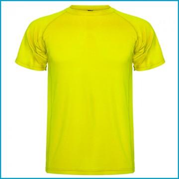 Camiseta Amarilla Fluor de Poliester