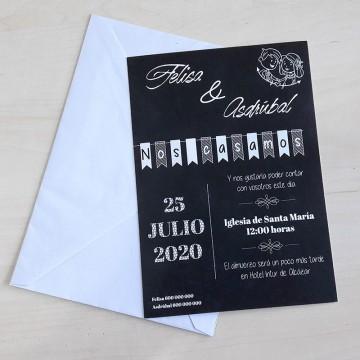 Invitación Pizarra